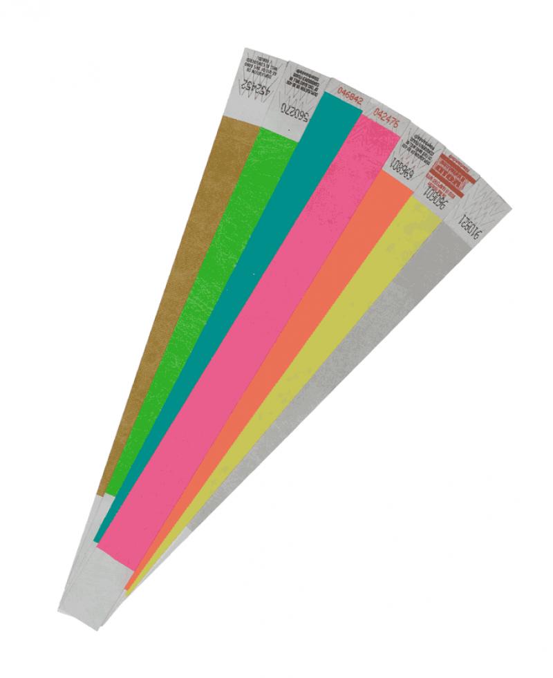 Контрольные браслеты на руку для школьных выпускных балов Бумажные контрольные браслеты на руку вместо билетов