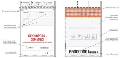 Номерной сейф-пакет Секъюрпак® 12 степеней защиты