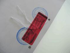 Применение пломбы-наклейки СКР