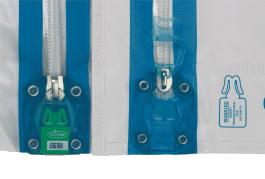 Сейф-контейнер Квикпак. Специальная камера для опечатывания одноразовыми номерными пломбами Квиксил