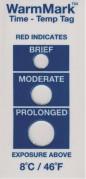 Термоиндикатор ВомМарк Шорт Ран необратимо регистрирует превышение температуры выше нормы +8 °С